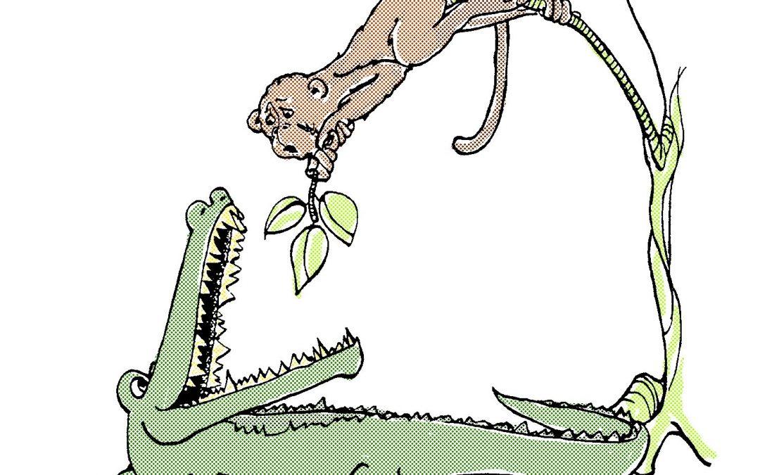 Le singe et le crocodile par Catherine Nicolaï